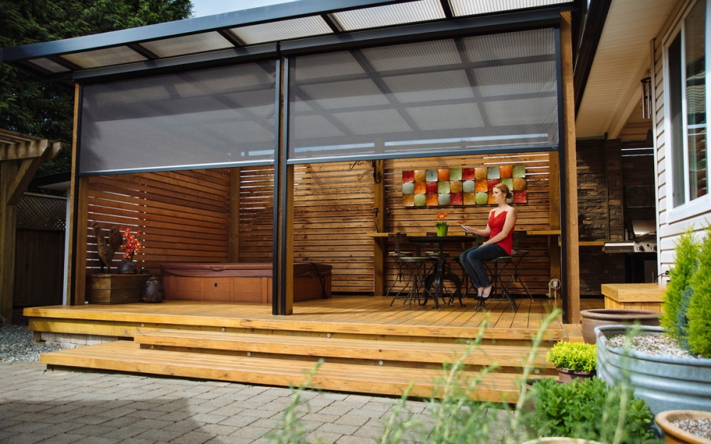 Make your porch an extension of your home with Phantom motorized screens