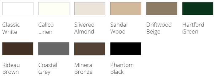 Phantom's retractable door screens come in 10 Signature colors that are ready to order.